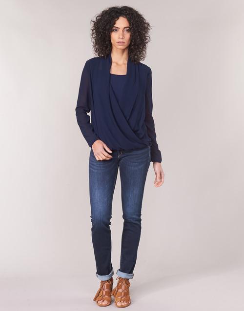 textil Dame Lige jeans Le Temps des Cerises PULP REGULAR Blå