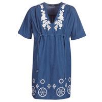 textil Dame Korte kjoler Desigual ELECTRA Marineblå