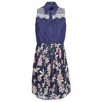 textil Dame Korte kjoler Desigual ALOHA Marineblå