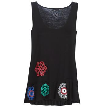 textil Dame Toppe / T-shirts uden ærmer Desigual MELISA Sort