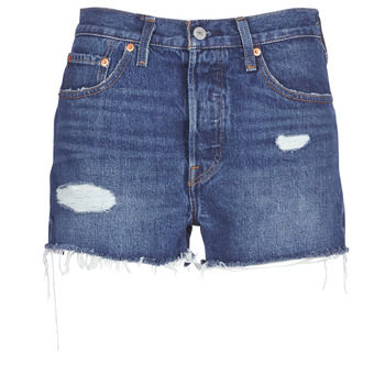 textil Dame Shorts Levi's 502 HIGH RISE SHORT Blå / Medium
