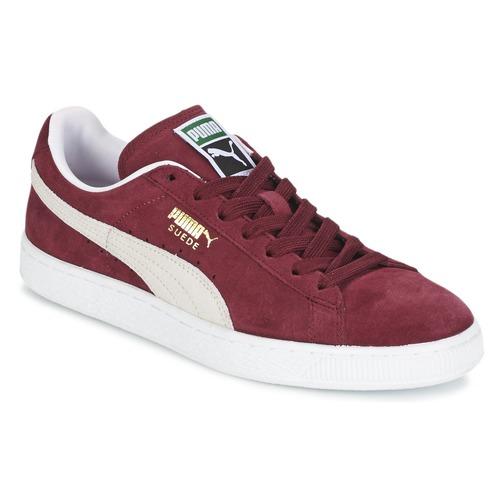 Sko Lave sneakers Puma SUEDE CLASSIC Rød / Hvid