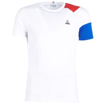 textil Herre T-shirts m. korte ærmer Le Coq Sportif ESS Tee SS N°10 M Hvid / Rød / Blå