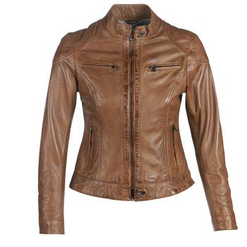 textil Dame Jakker i læder / imiteret læder Oakwood LINA Cognac