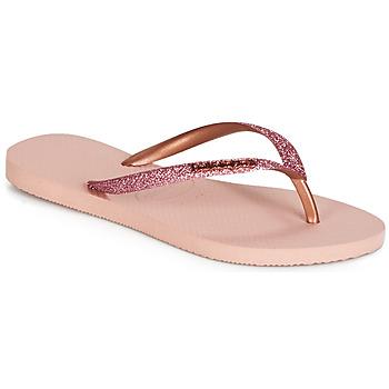 Sko Dame Flip flops Havaianas SLIM GLITTER Pink