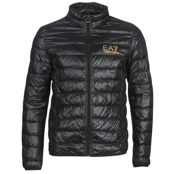 textil Herre Dynejakker Emporio Armani EA7 TRAIN CORE ID DOWN LT Sort / Guld