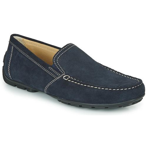 Hos Herre dkSko Gratis Fragt Loafers Geox Spartoo Monet Blå OTPXukZi
