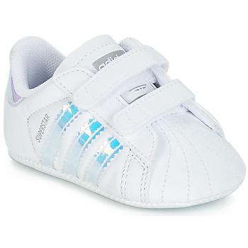 Sko Pige Lave sneakers adidas Originals SUPERSTAR CRIB Hvid