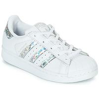 Sko Pige Lave sneakers adidas Originals SUPERSTAR C Hvid / Sølv