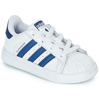Sko Børn Lave sneakers adidas Originals SUPERSTAR EL Hvid / Blå