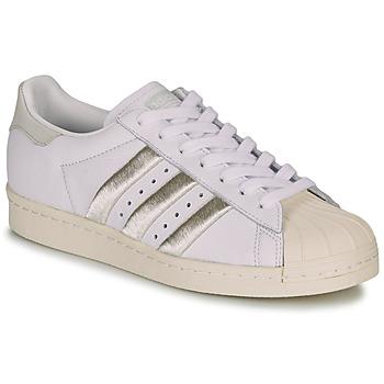 Sko Dame Lave sneakers adidas Originals SUPERSTAR 80s W Hvid / Beige