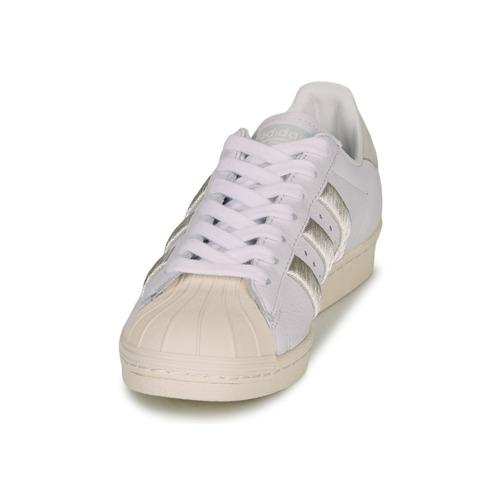 adidas Originals SUPERSTAR 80s W Hvid / Beige - Gratis fragt- Sko Lave sneakers Dame 687,00
