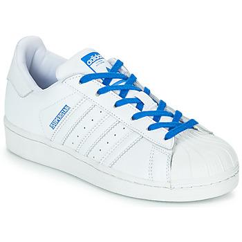 Sko Pige Lave sneakers adidas Originals SUPERSTAR J Hvid / Blå