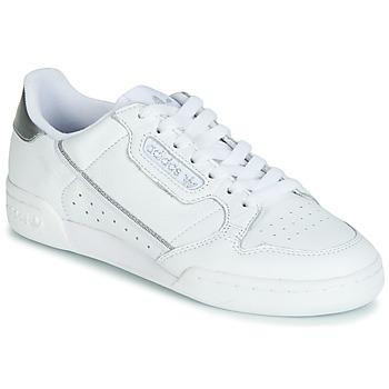 Sko Dame Lave sneakers adidas Originals CONTINENTAL 80s Hvid / Sølv