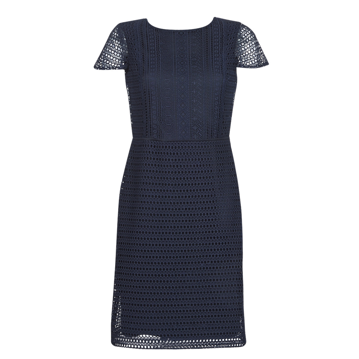 Korte kjoler Lauren Ralph Lauren  NAVY SHORT SLEEVE DAY DRESS