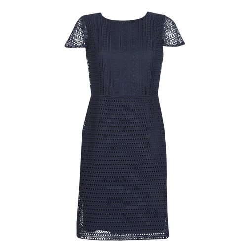 25b4cf5c textil Dame Korte kjoler Lauren Ralph Lauren NAVY SHORT SLEEVE DAY DRESS  Marineblå