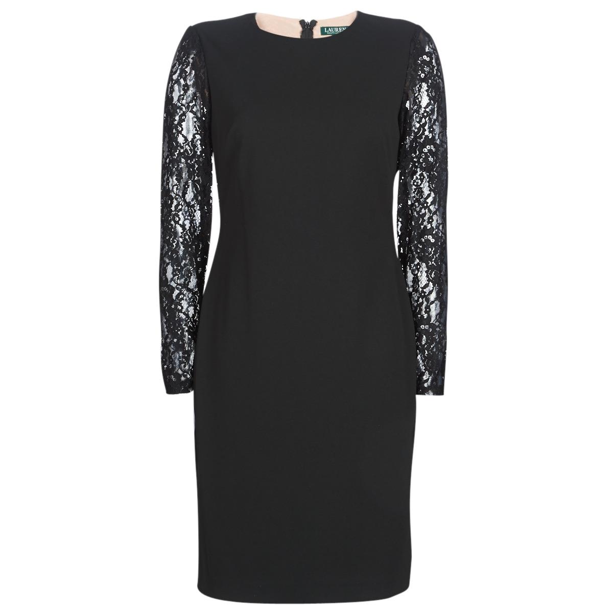 Korte kjoler Lauren Ralph Lauren  LACE PANEL JERSEY DRESS
