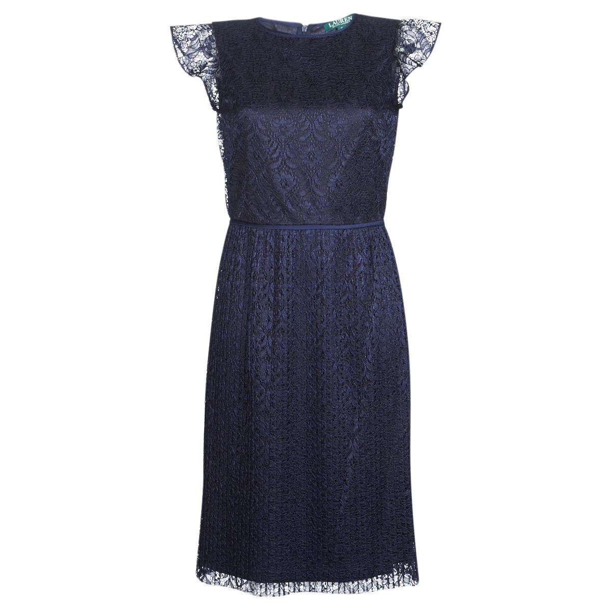 Korte kjoler Lauren Ralph Lauren  LACE CAP SLEEVE DRESS