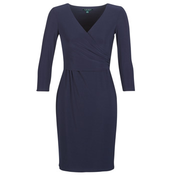 textil Dame Korte kjoler Lauren Ralph Lauren 3/4 SLEEVE DAY DRESS Marineblå