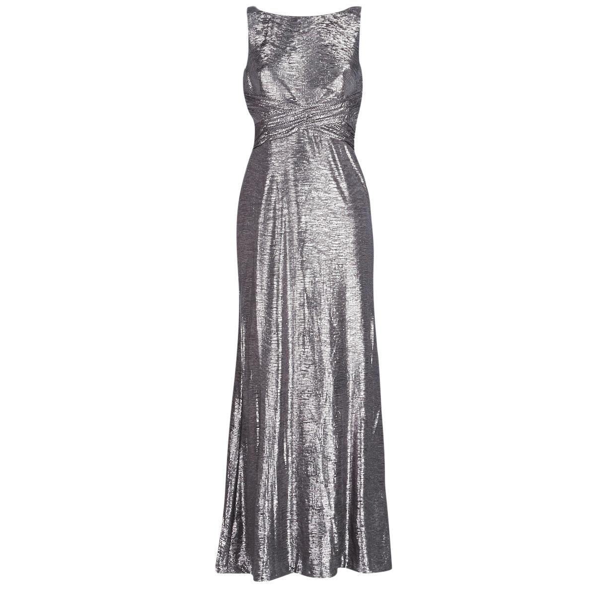 Lange kjoler Lauren Ralph Lauren  SLEEVELESS EVENING DRESS GUNMETAL