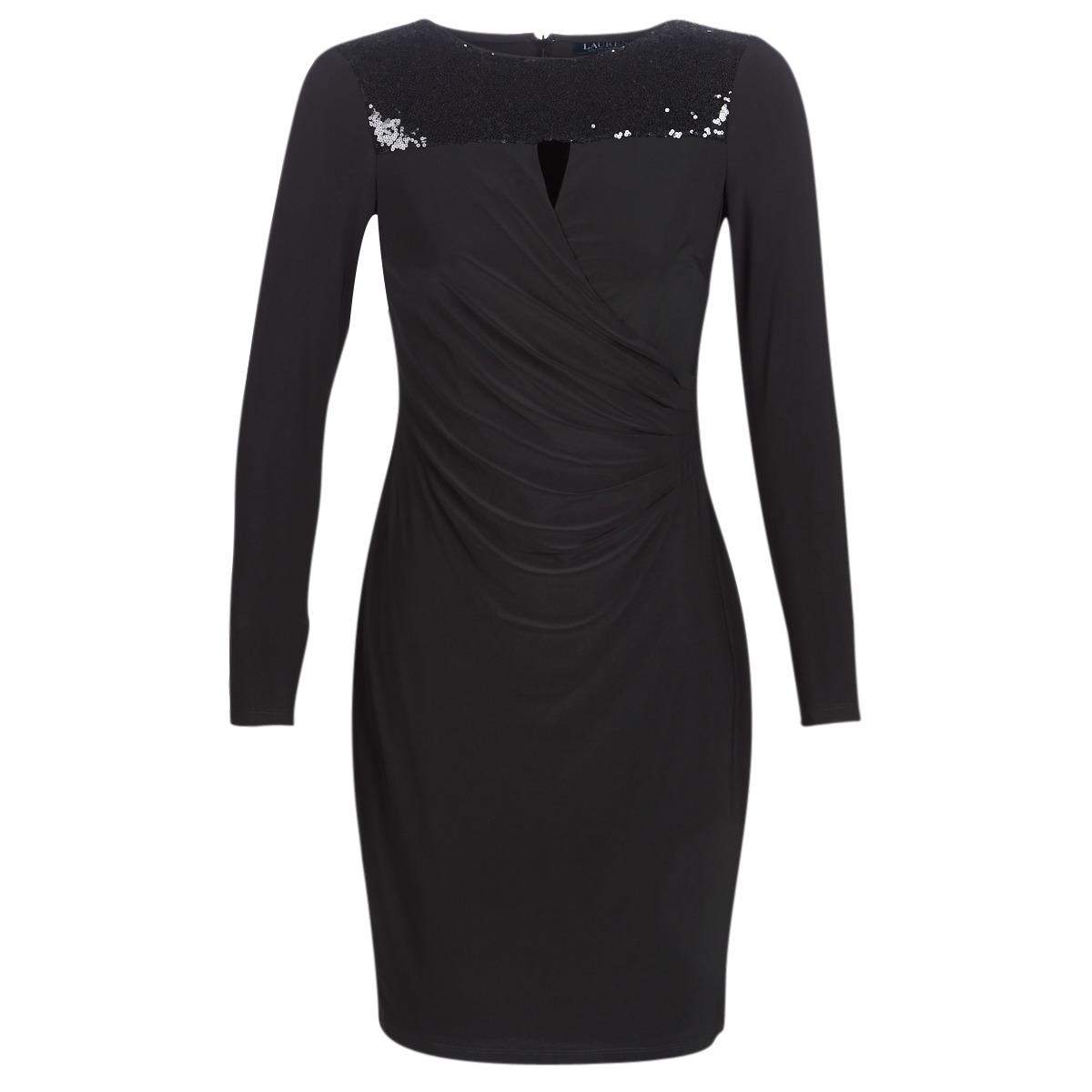 Korte kjoler Lauren Ralph Lauren  SEQUINED YOKE JERSEY DRESS