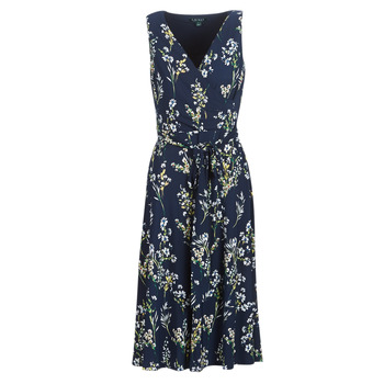 textil Dame Lange kjoler Lauren Ralph Lauren FLORAL PRINT-SLEEVELESS-DAY DRESS Marineblå