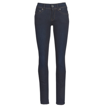 textil Dame Lige jeans G-Star Raw MIDGE SADDLE MID STRAIGHT Blå / Mørk / Ældet