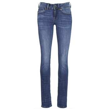 textil Dame Lige jeans G-Star Raw MIDGE SADDLE MID STRAIGHT Blå / Medium / Indigo / Ældet