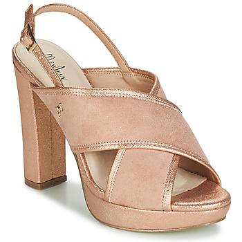 Sko Dame Sandaler Menbur VILLALBA Pink / Guld