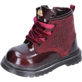 Sko Pige Chikke støvler Lulu stivaletti bordeaux pelle camoscio BT356 Rosso