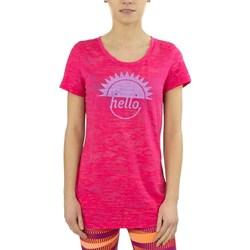 textil Dame T-shirts m. korte ærmer Reebok Sport RH Burnout Tshirt Pink
