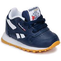 Sko Dreng Lave sneakers Reebok Classic CLASSIC LEATHER Blå / Hvid