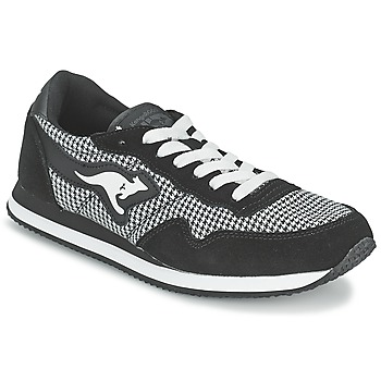 Sko Dame Lave sneakers Kangaroos INVADER TWEED Grå / Sort