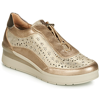 Sko Dame Lave sneakers Stonefly CREAM 15 LAMINATED LTH Guld