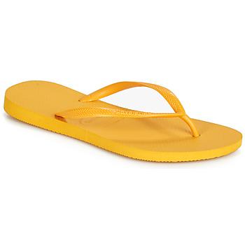 Sko Dame Flip flops Havaianas SLIM Gul