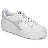 Sko Dame Lave sneakers Diadora B ELITE WIDE Hvid / Muldvarpegrå