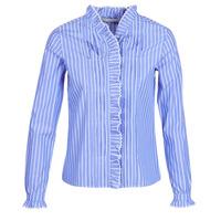 textil Dame Skjorter / Skjortebluser Maison Scotch LONG SLEEVES SHIRT Blå / Lys