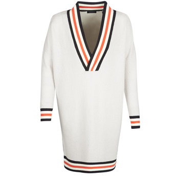 textil Dame Pullovere Maison Scotch WHITE LONG SLEEVES Hvid / Fløde