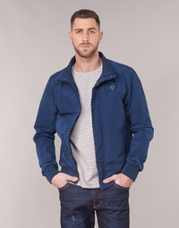textil Herre Jakker Scotch & Soda AMS BLAUW SIMPLE HARRINGTON JACKET Marineblå