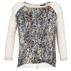 textil Dame Pullovere One Step TWIST BEIGE / Grå
