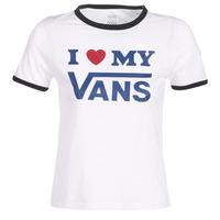 textil Dame T-shirts m. korte ærmer Vans VANS LOVE RINGER Hvid