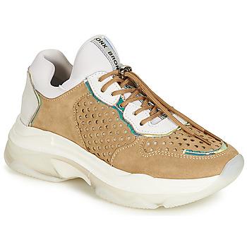 Sko Dame Lave sneakers Bronx BAISLEY Hvid / Brun