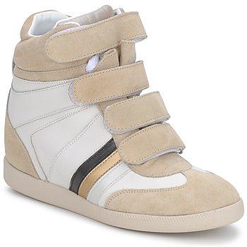 Sko Dame Lave sneakers Serafini MANATHAN SCRATCH Hvid-beige-blå