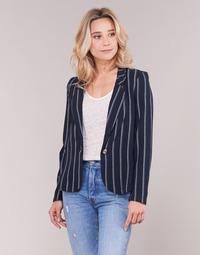 textil Dame Jakker / Blazere Vero Moda VMANNA Hvid / Marineblå