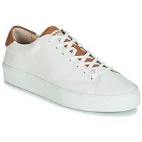 Sko Dame Lave sneakers Pataugas KELLA Hvid / Cognac