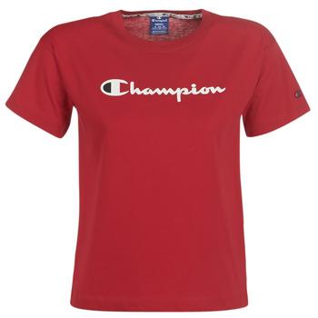 textil Dame T-shirts m. korte ærmer Champion 111393-RIR Bordeaux