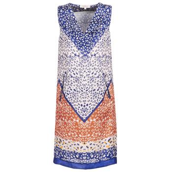 textil Dame Korte kjoler Derhy FORTERESSE Hvid / Blå / Orange