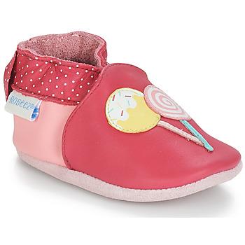 Sko Pige Babytøfler Robeez FUNNY SWEETS Pink / Hvid
