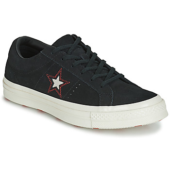 Sko Dame Lave sneakers Converse ONE STAR LOVE IN THE DETAILS SUEDE OX Sort