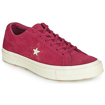Sko Dame Lave sneakers Converse ONE STAR LOVE IN THE DETAILS SUEDE OX Fuchsia